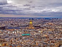 在巴黎之上 库存图片