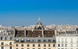 在巴黎人房子的全景,巴黎 免版税图库摄影