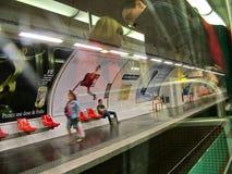 在巴黎地铁,提取 免版税库存照片