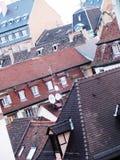 在巴黎屋顶的看法  库存照片