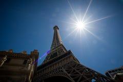 在巴黎拉斯维加斯的艾菲尔铁塔复制品 图库摄影