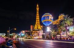 在巴黎酒店的拉斯韦加斯大道 库存照片