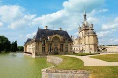 在巴黎附近的chantilly大别墅de 免版税库存照片