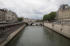 在巴黎,法国的中心的建筑学 免版税库存图片