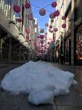 在市中心华盛顿特区的雪天 库存照片