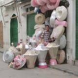 在市场上卖的婚礼陪嫁 库存照片