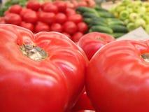 在市场上的新鲜食品 图库摄影