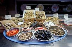 在市场上的海鲜 库存图片