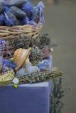 在市场上的美丽的干淡紫色 库存图片