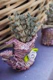 在市场上的美丽的干淡紫色 库存照片
