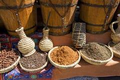 在市场上的Sharm El谢赫埃及香料 库存图片