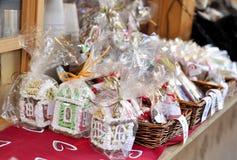 在市场的圣诞节礼物在塔林 图库摄影