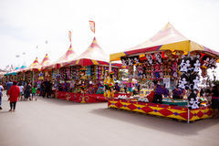 在市场的狂欢节比赛 免版税库存图片