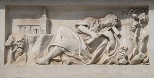 在市的大广场困扰纪念碑马里博尔在斯洛文尼亚 图库摄影