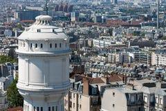 在市的屋顶的看法巴黎,巴黎,法国,欧洲 库存照片