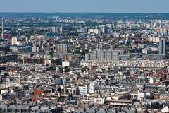 在市的屋顶的看法巴黎,巴黎,法国,欧洲 免版税库存照片
