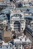 在市的屋顶的看法巴黎,巴黎,法国,欧洲 库存图片