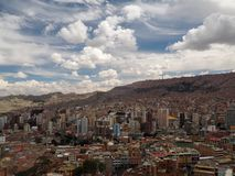 在市的看法拉巴斯,玻利维亚 库存图片