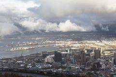 在市的看法从信号小山的开普敦 库存图片
