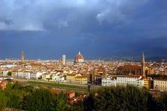 在市的鸟瞰图佛罗伦萨,意大利 库存照片
