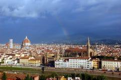 在市的鸟瞰图佛罗伦萨,意大利 库存图片