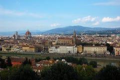 在市的鸟瞰图佛罗伦萨,意大利 图库摄影
