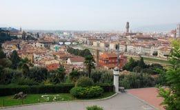 在市的鸟瞰图佛罗伦萨,意大利 免版税库存照片