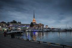 在市索契,黑暗的夜 库存图片
