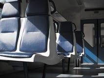 在市郊火车的空位 库存照片