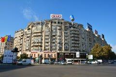 在布加勒斯特联合广场Piata Unirii街市交易 免版税库存图片
