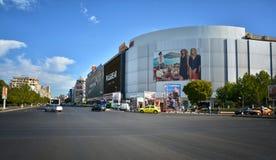 在布加勒斯特联合广场Piata Unirii街市交易 库存图片