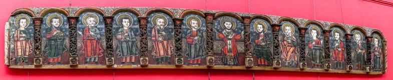在布加勒斯特艺术国家博物馆的中古时期icones 库存图片
