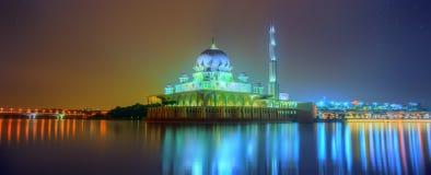 在布城清真寺,吉隆坡的日落 库存照片
