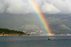 在布德瓦里维埃拉的彩虹 图库摄影
