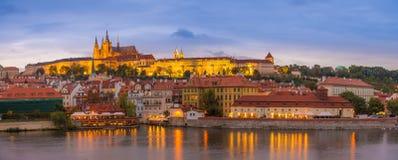 在布拉格城堡,捷克共和国的日落 库存照片