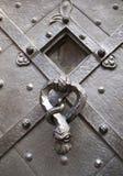 在布拉格大教堂的通道门环 图库摄影