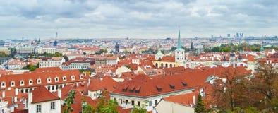 在布拉格市的惊人的看法 免版税库存照片