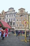 在布拉格的中心在12月 免版税图库摄影