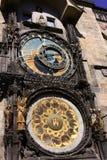 在布拉格的天文学时钟 免版税库存图片
