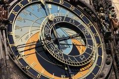 在布拉格的天文学时钟 图库摄影