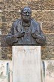 在布拉格的温斯顿・丘吉尔雕象 库存照片