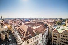在布拉格的看法从老镇桥梁塔 图库摄影