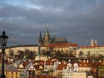 在布拉格的看法从查理大桥 免版税库存照片