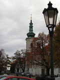 在布拉格的老部分的老灯笼 免版税库存照片