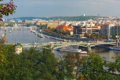 在布拉格,捷克的鸟瞰图 免版税图库摄影