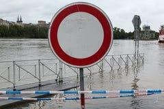 洪水在布拉格,捷克, 2003年6月 免版税库存图片