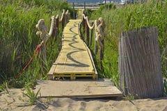 在布拉采附近的海滩走道 库存照片