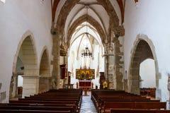 在布拉索夫附近的Prejmer被加强的教会 库存照片
