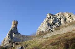 在布拉索夫,斯洛伐克, V.附近的Devin城堡。 库存照片