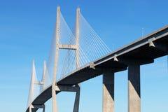 在布朗斯维克, GA的吊桥 免版税图库摄影